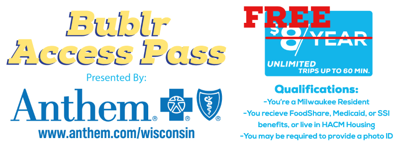 Bublr Bikes FREE Access Pass Presented by Anthem Blue Cross And Blue Shield